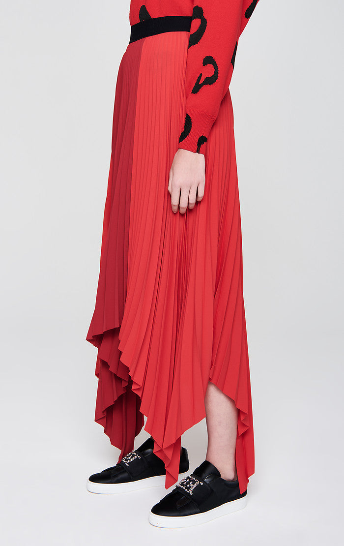 ESCADA Plissé Asymmetric Skirt