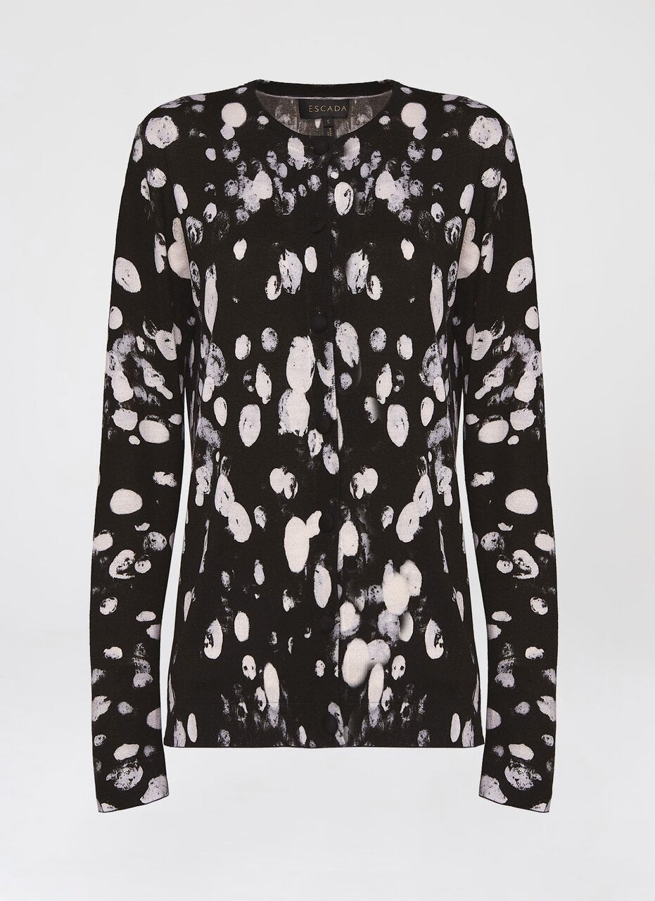 Over all printed dalmation cardigan - ESCADA