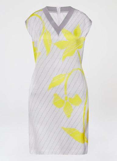 Flower Print Viscose Crêpe Dress - ESCADA
