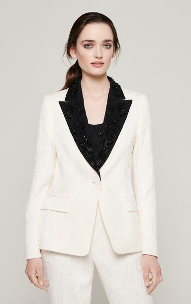 ESCADA Embroidered Jacquard Blazer