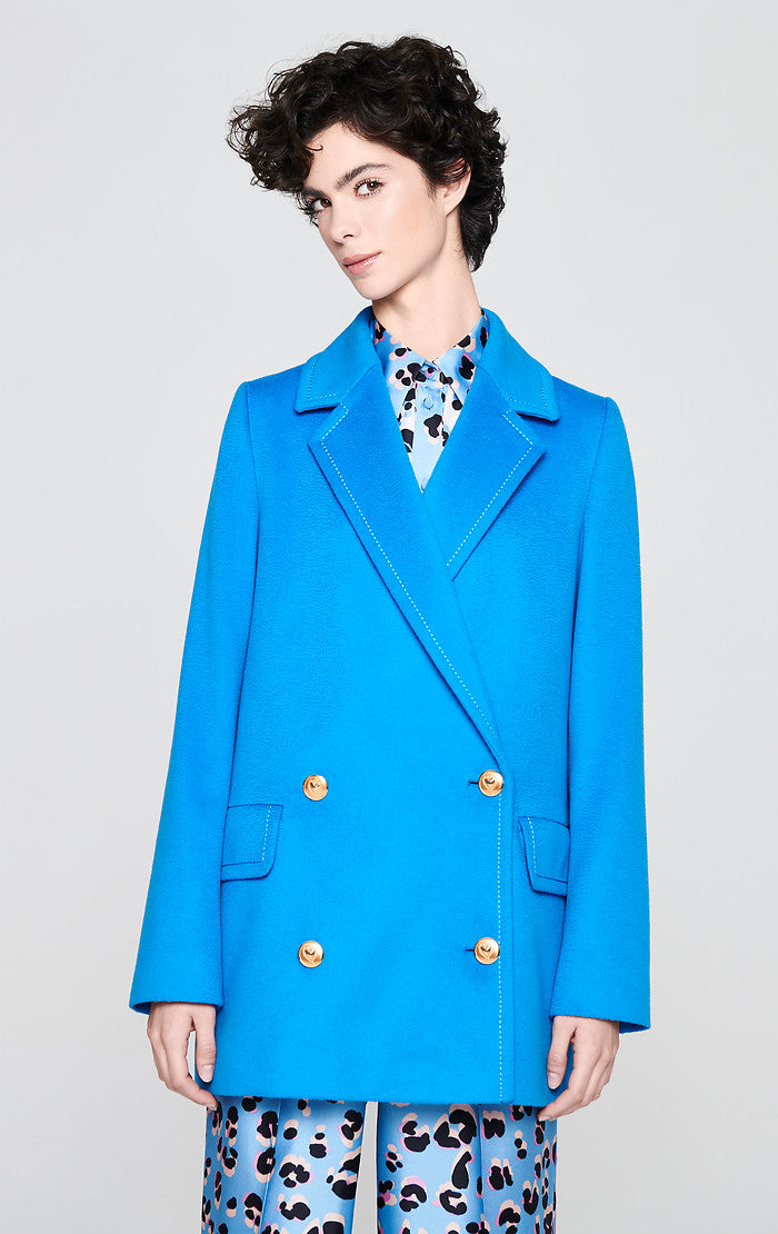 Virgin Wool Pea Coat - ESCADA