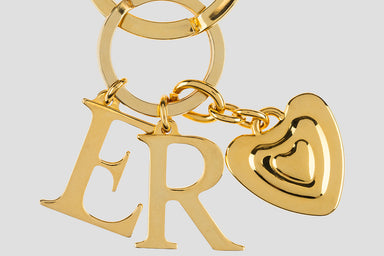 ESCADA Letter Charm Key Ring
