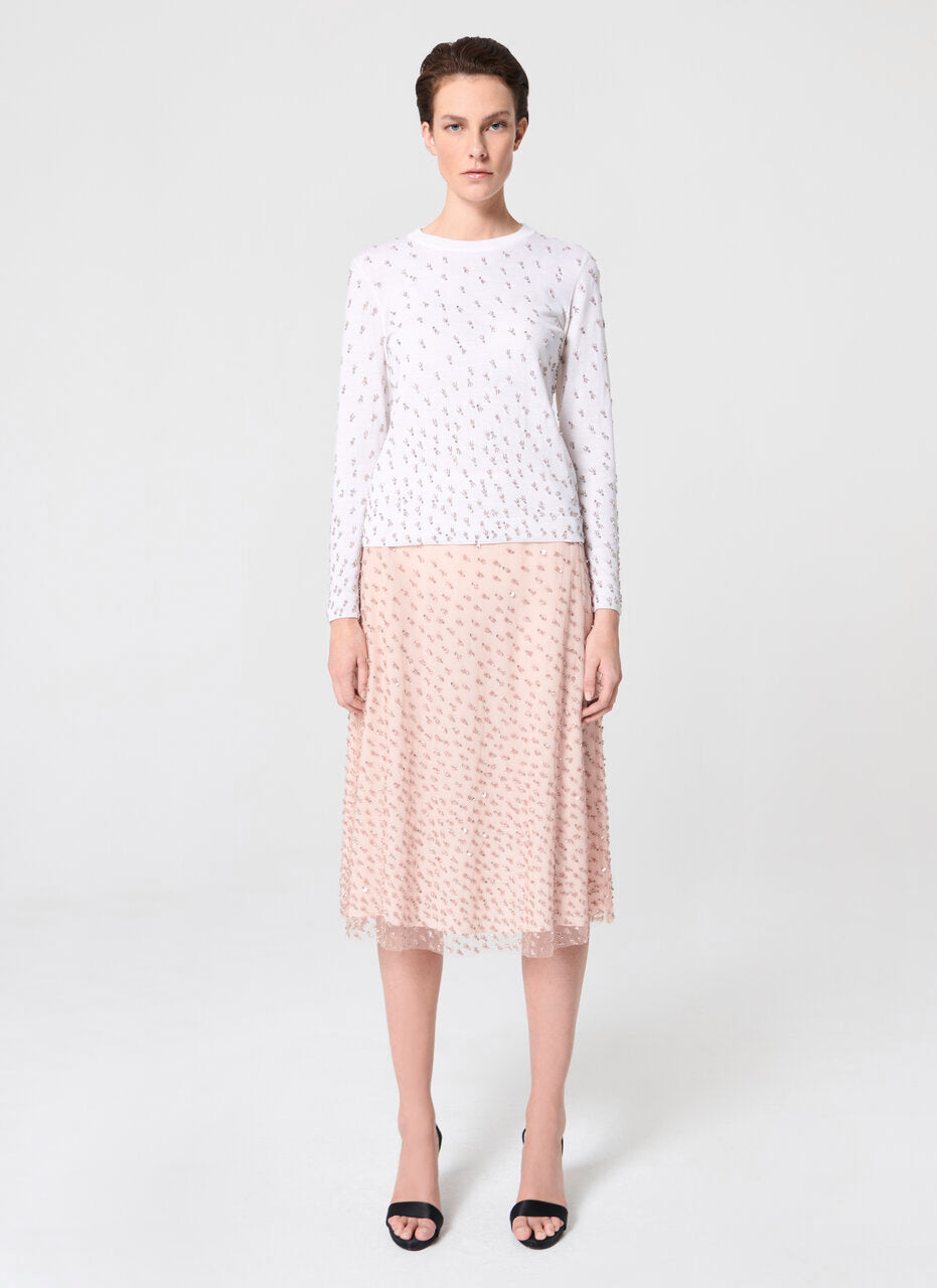 Hand embroidery skirt - ESCADA