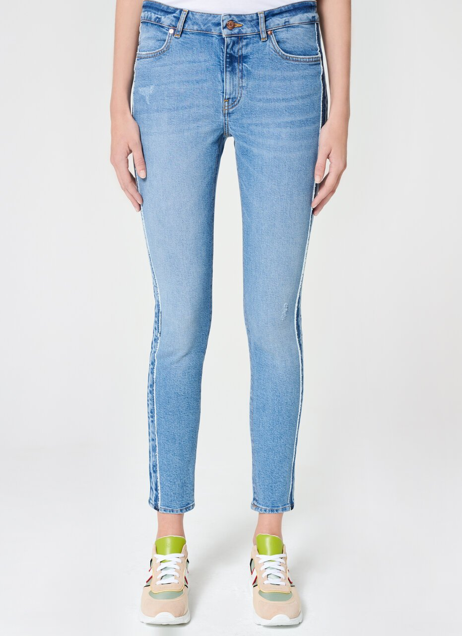 Blue Jegging Stripe Patch - ESCADA