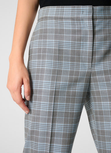 Wool Silk Check Pants
