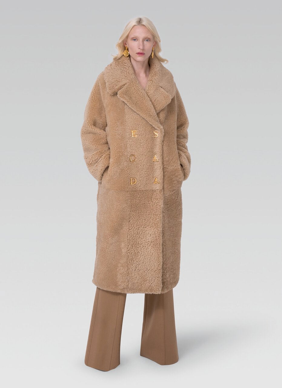Curly lambfur teddy coat - ESCADA