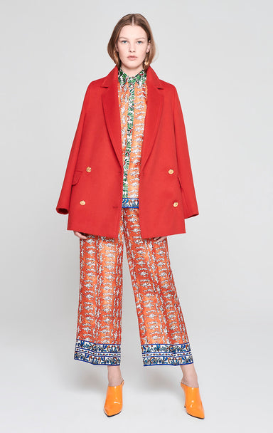 Silk Printed Wide Leg Pants - ESCADA