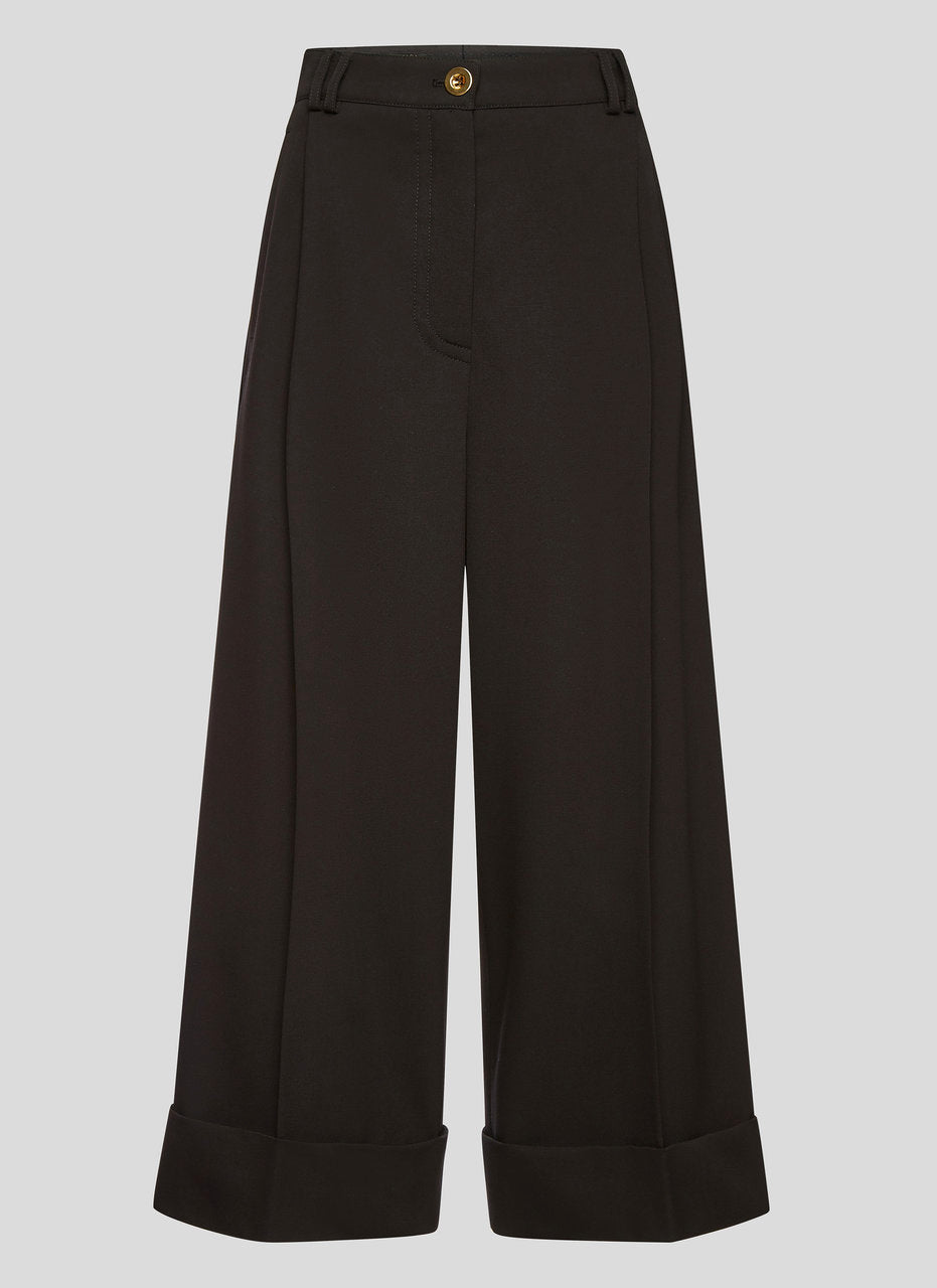 Wool Stretch Culotte Pants - ESCADA