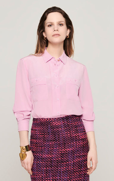 Silk Patch Pocket Blouse - ESCADA