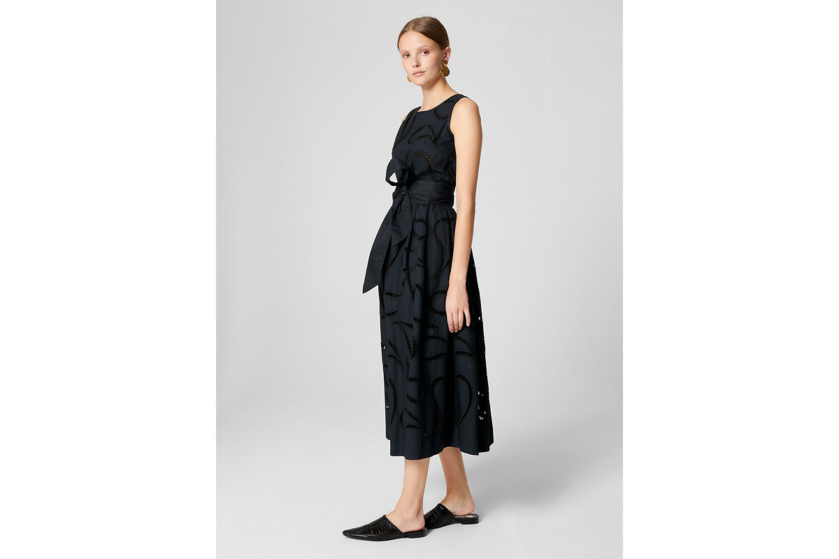 ESCADA Cotton Paisley Broderie Dress