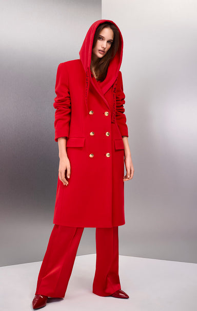 ESCADA Wool Hooded Coat