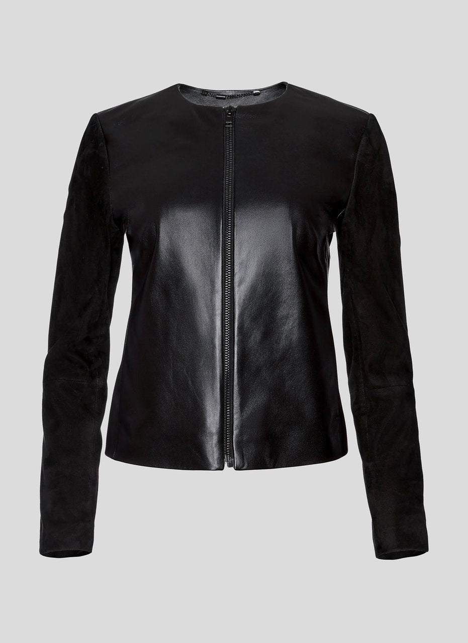 Leather and Suede Jacket - ESCADA