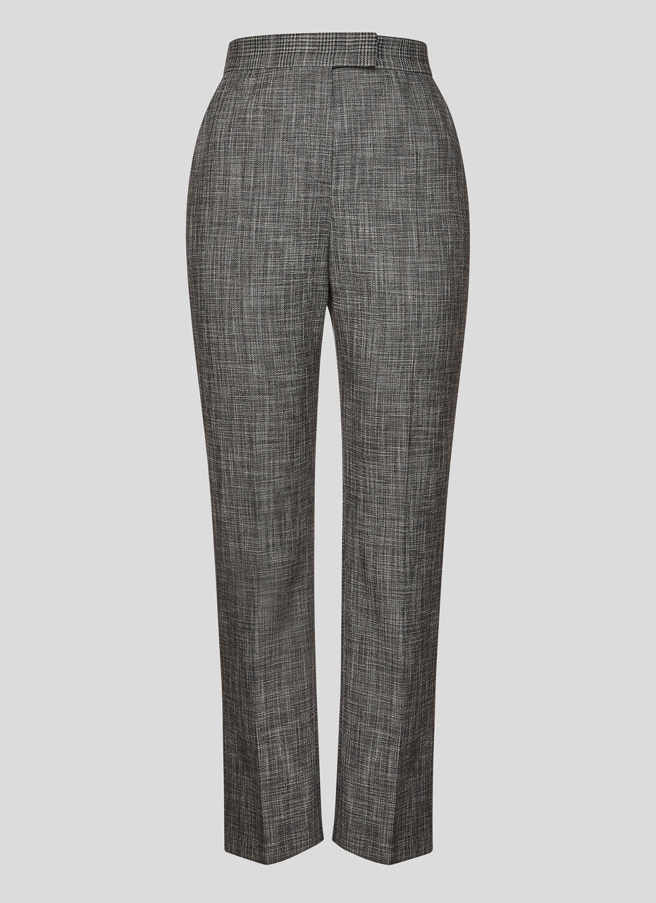Cotton Wool Check Pants - ESCADA