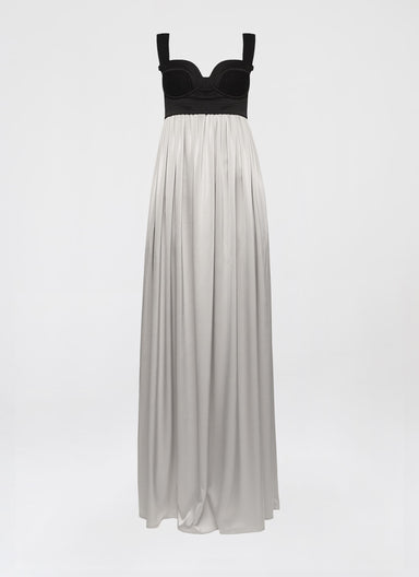 Full-length gown in double satin - ESCADA
