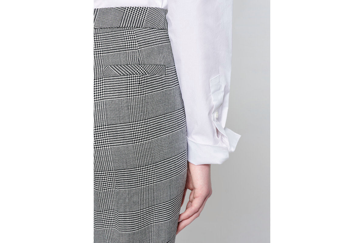 Virgin Wool Check Pants - ESCADA