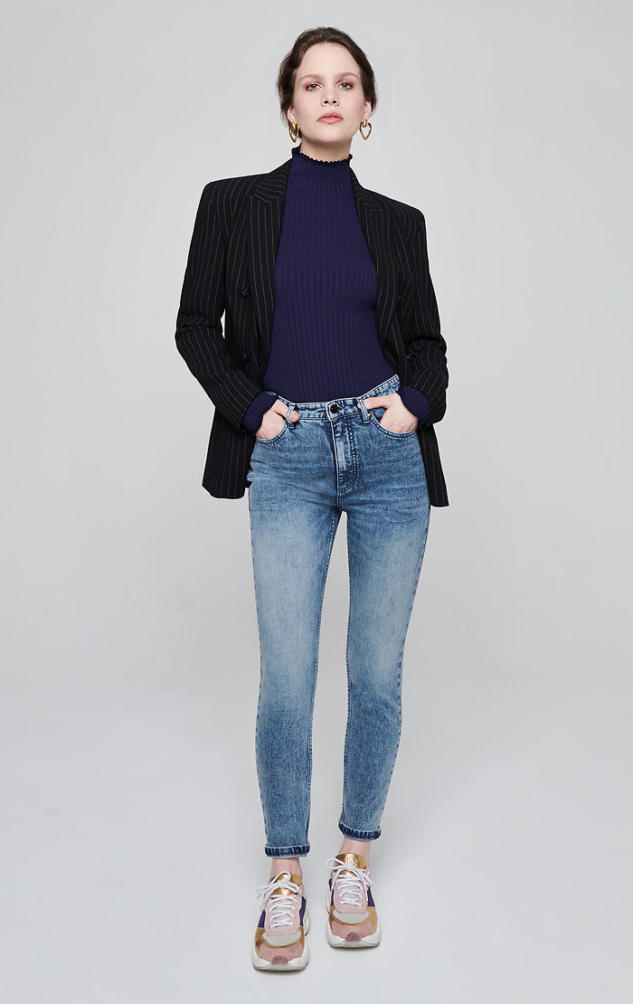 Light Blue Tapered Jeans - ESCADA