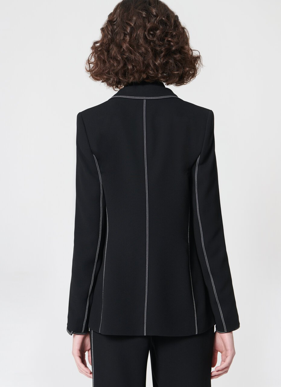 ESCADA Casual blazer with contrast stitching