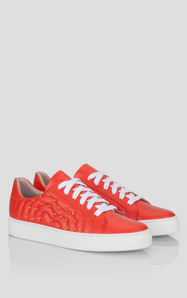 Studded Leather Sneakers - ESCADA