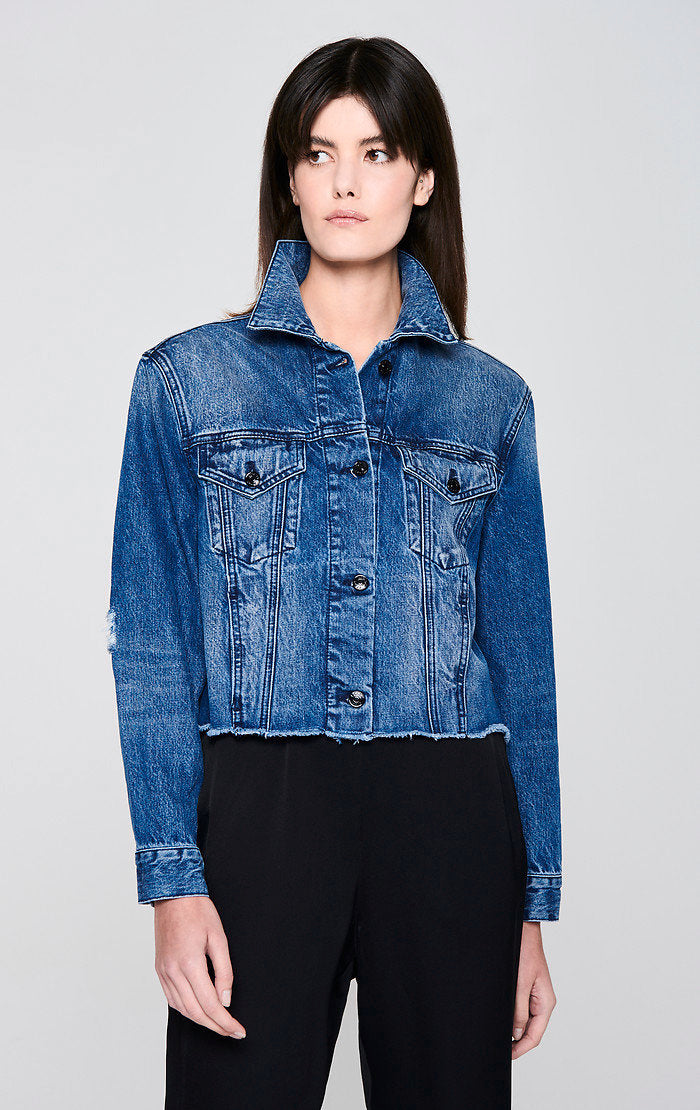 Sequin-Embroidered Denim Jacket - ESCADA