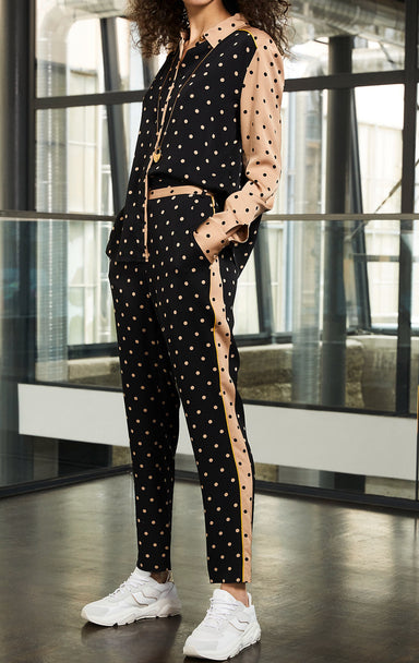 ESCADA Two-Tone Polka Dot Pants