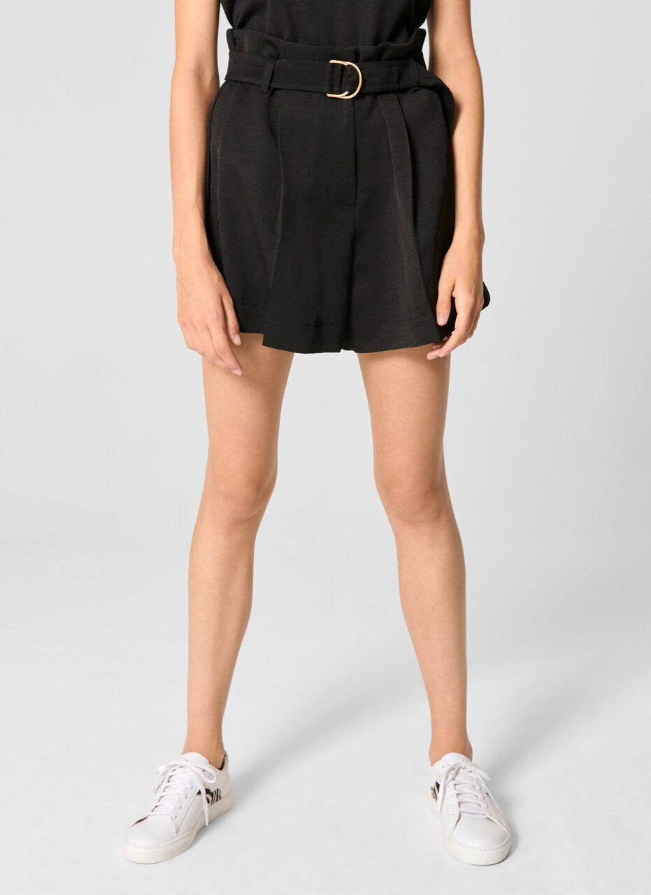 High Rise Belted Shorts - ESCADA