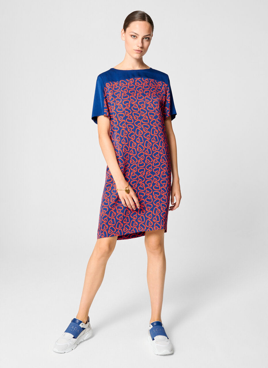ESCADA Crepe Printed T-shirt Dress