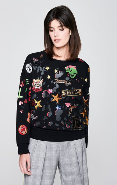 ESCADA Badge Appliqué Sweatshirt