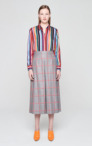 ESCADA Wool Check Midi Skirt