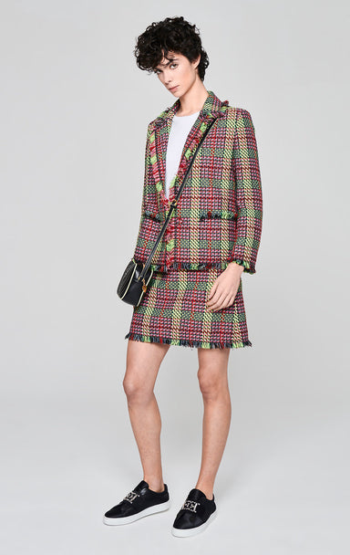ESCADA Multicolor Check Tweed Jacket