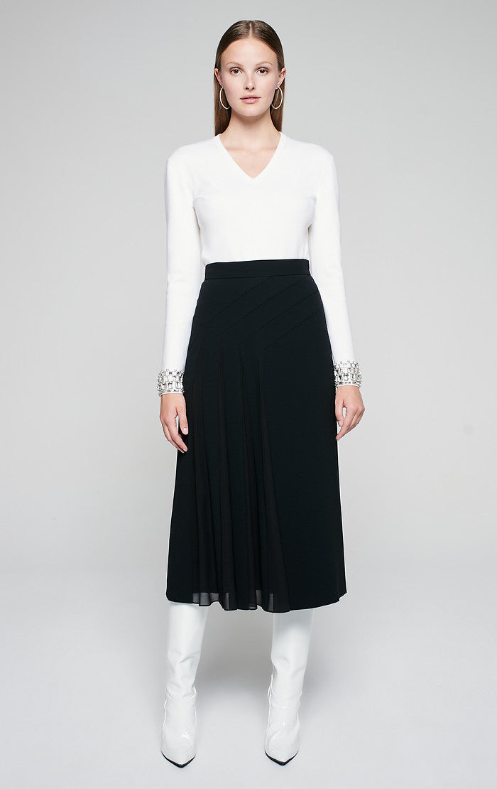 ESCADA Pleated Midi Skirt