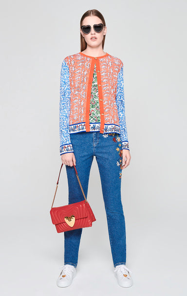 Crystal-Embroidered Jeans - ESCADA