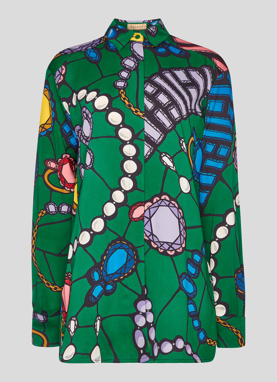 Residency Collection - Jewel Printed Blouse