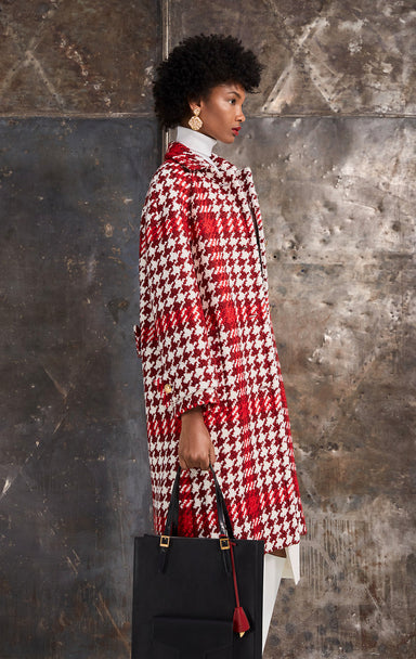 ESCADA Wool Check Tweed Coat