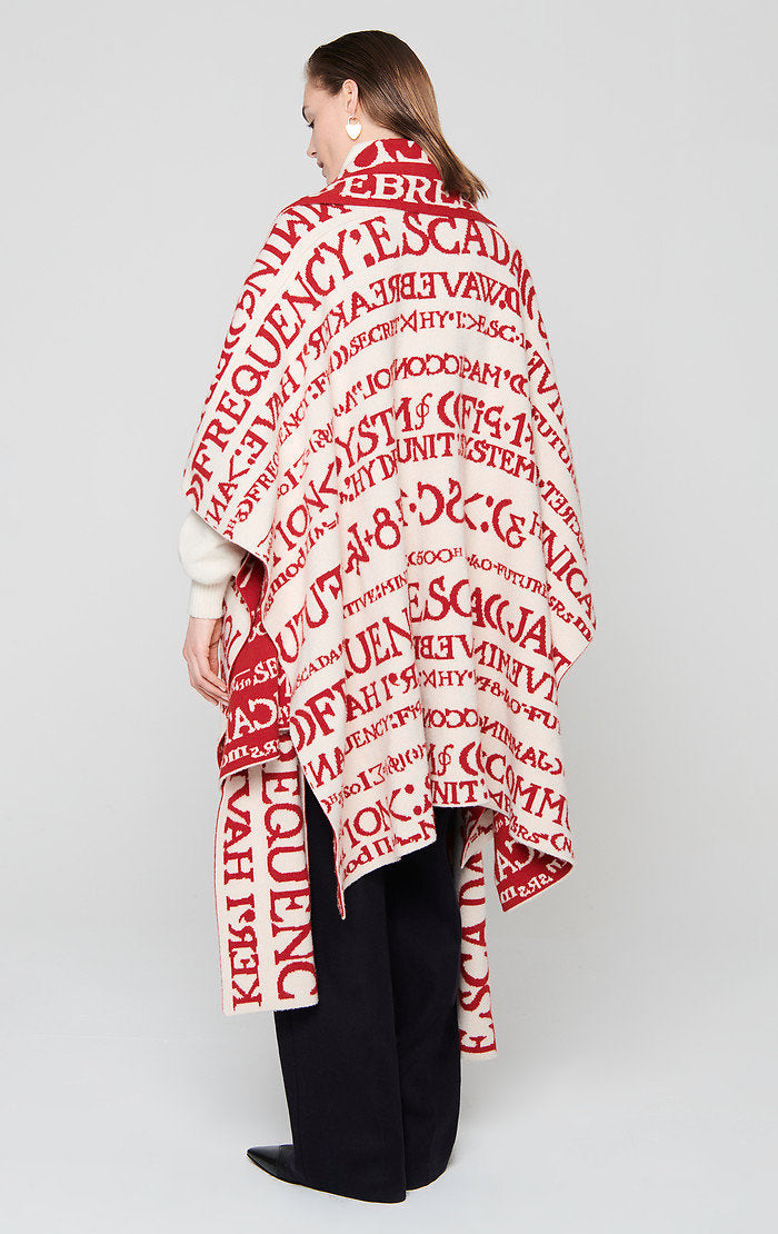 ESCADA Residency Collection - Wool Cashmere Intarsia Cape