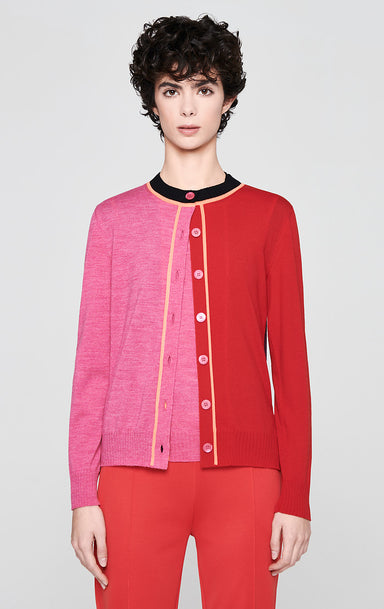 ESCADA Wool Color Block Cardigan