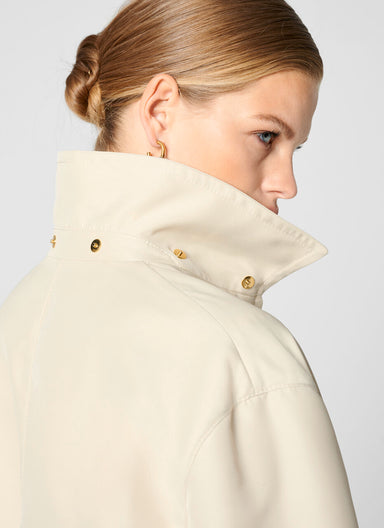 Hooded Zip Up Coat - ESCADA