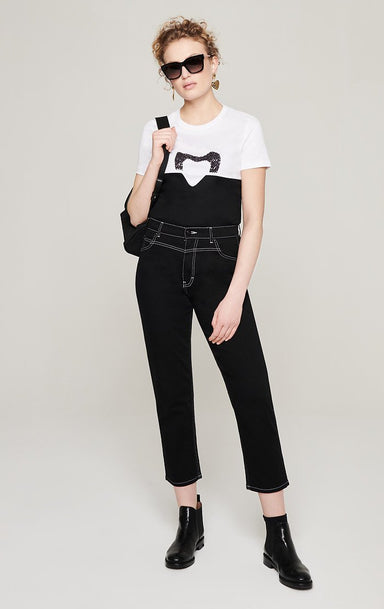 Black Tapered Ankle Jeans - ESCADA