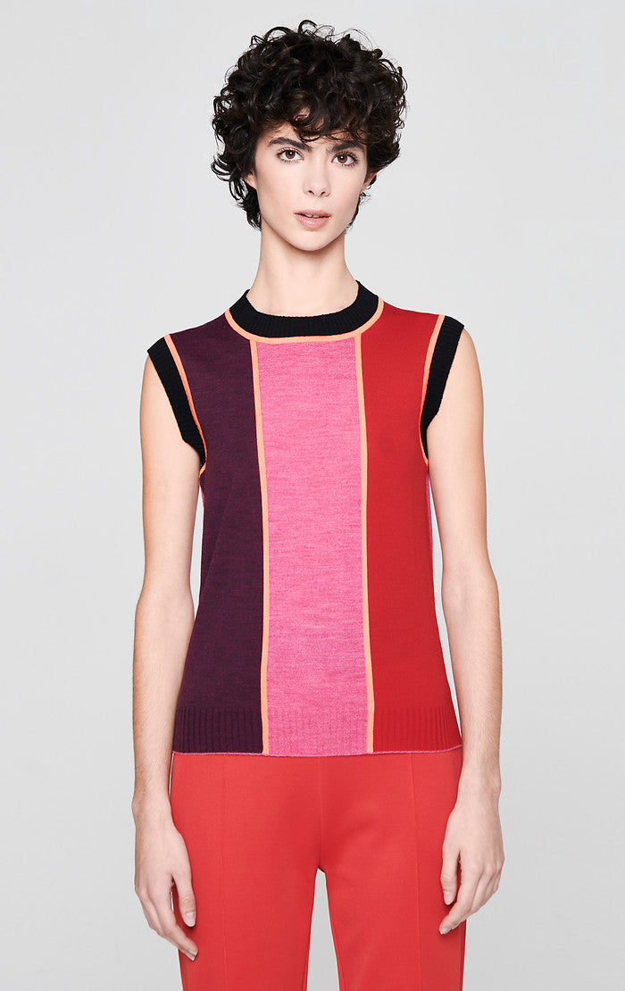 Wool Color Block Top - ESCADA