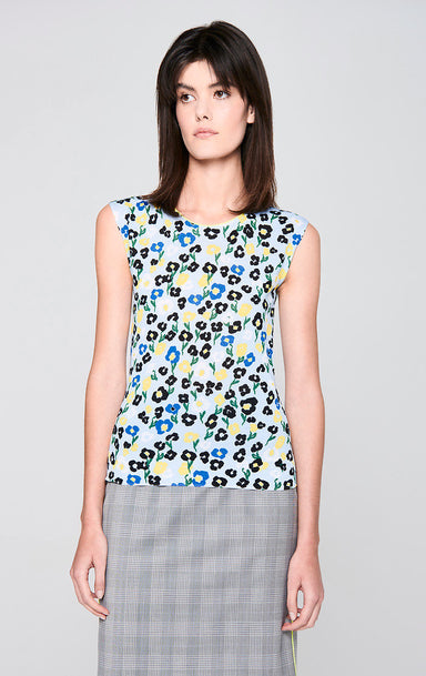 Cotton Blend Printed Top - ESCADA