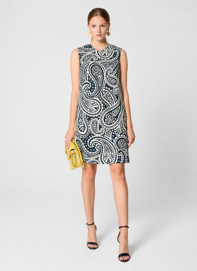 Cotton Stretch Paisley Dress - ESCADA