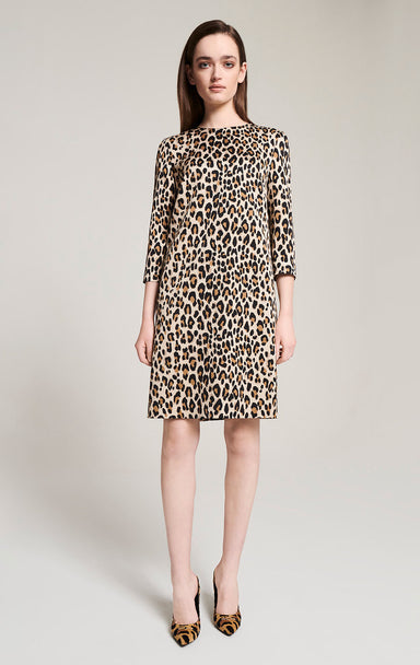 ESCADA Leopard Print Calf Hair Pumps