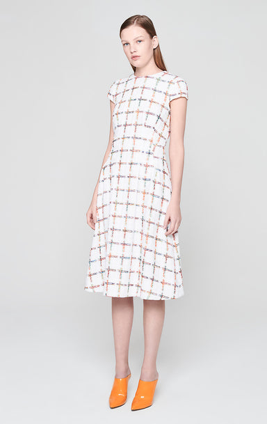 ESCADA Cotton Check Tweed Dress