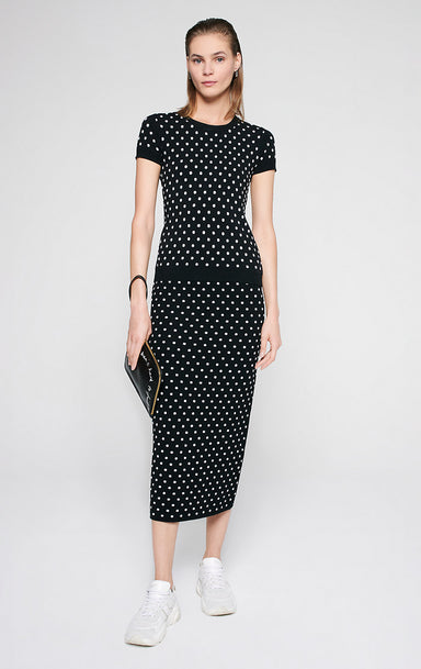 Polka Dot Jacquard Skirt - ESCADA