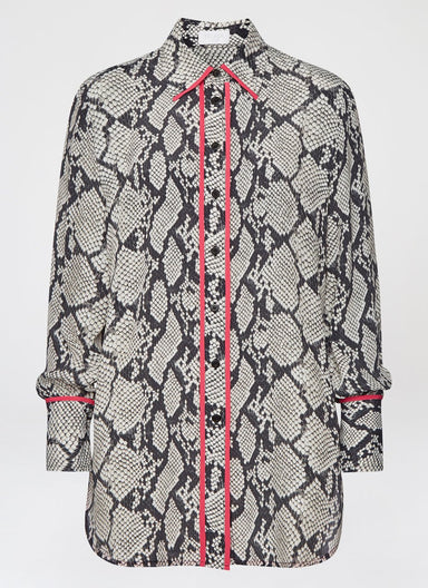 Python Printed Viscose Silk Tunic - ESCADA
