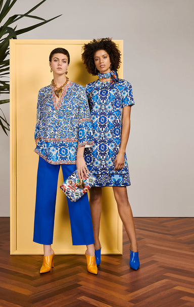 ESCADA Silk Printed Tunic Top