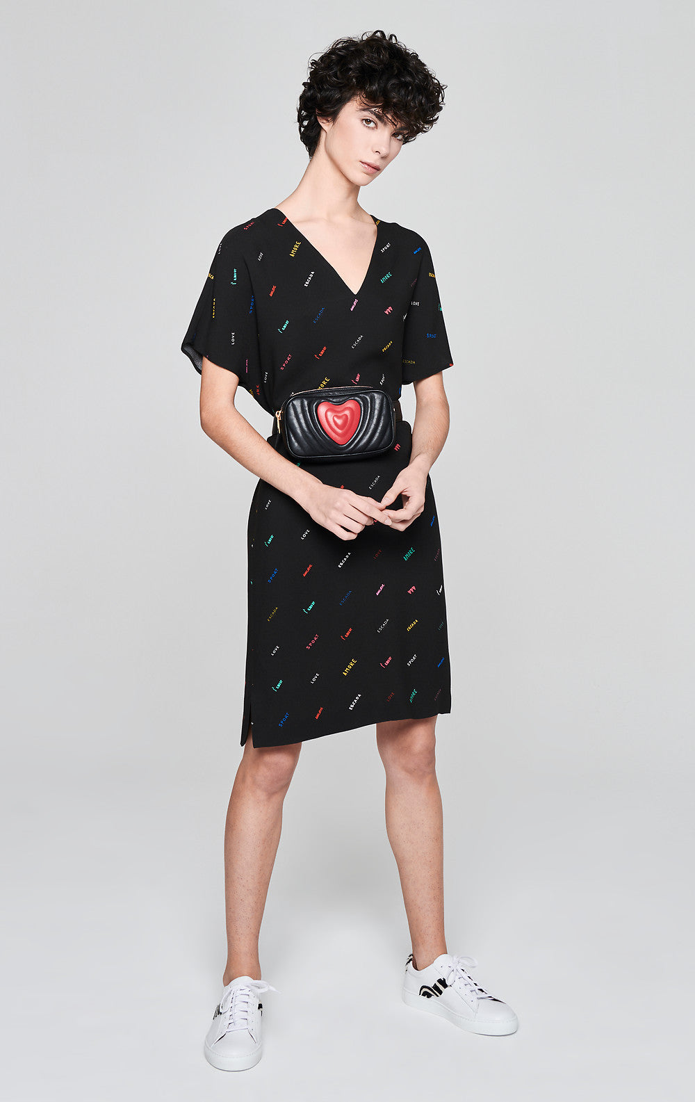 Crepe Printed Logo Dress - ESCADA