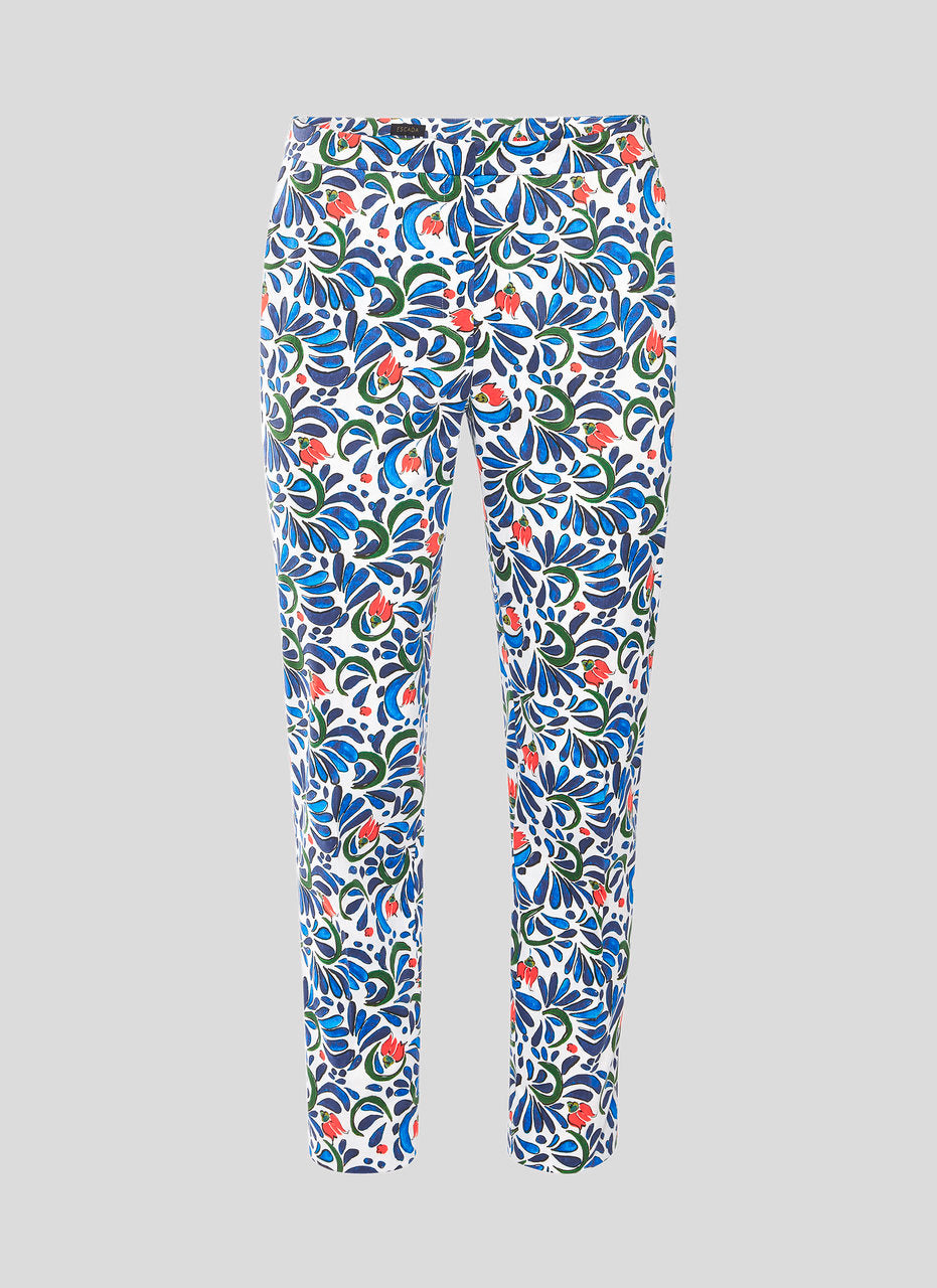 Cotton Stretch Printed Pants