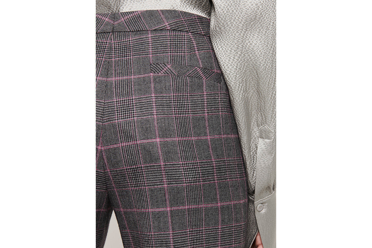 Wool Stretch Check Pants - ESCADA