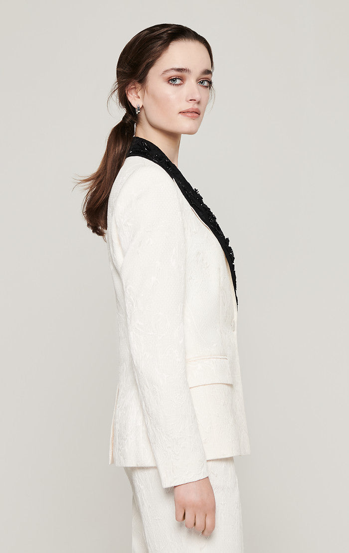 Embroidered Jacquard Blazer - ESCADA