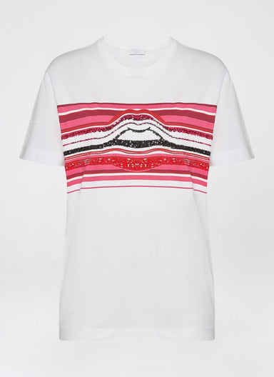 ESCADA Multicolor Lip Sequins T-Shirt
